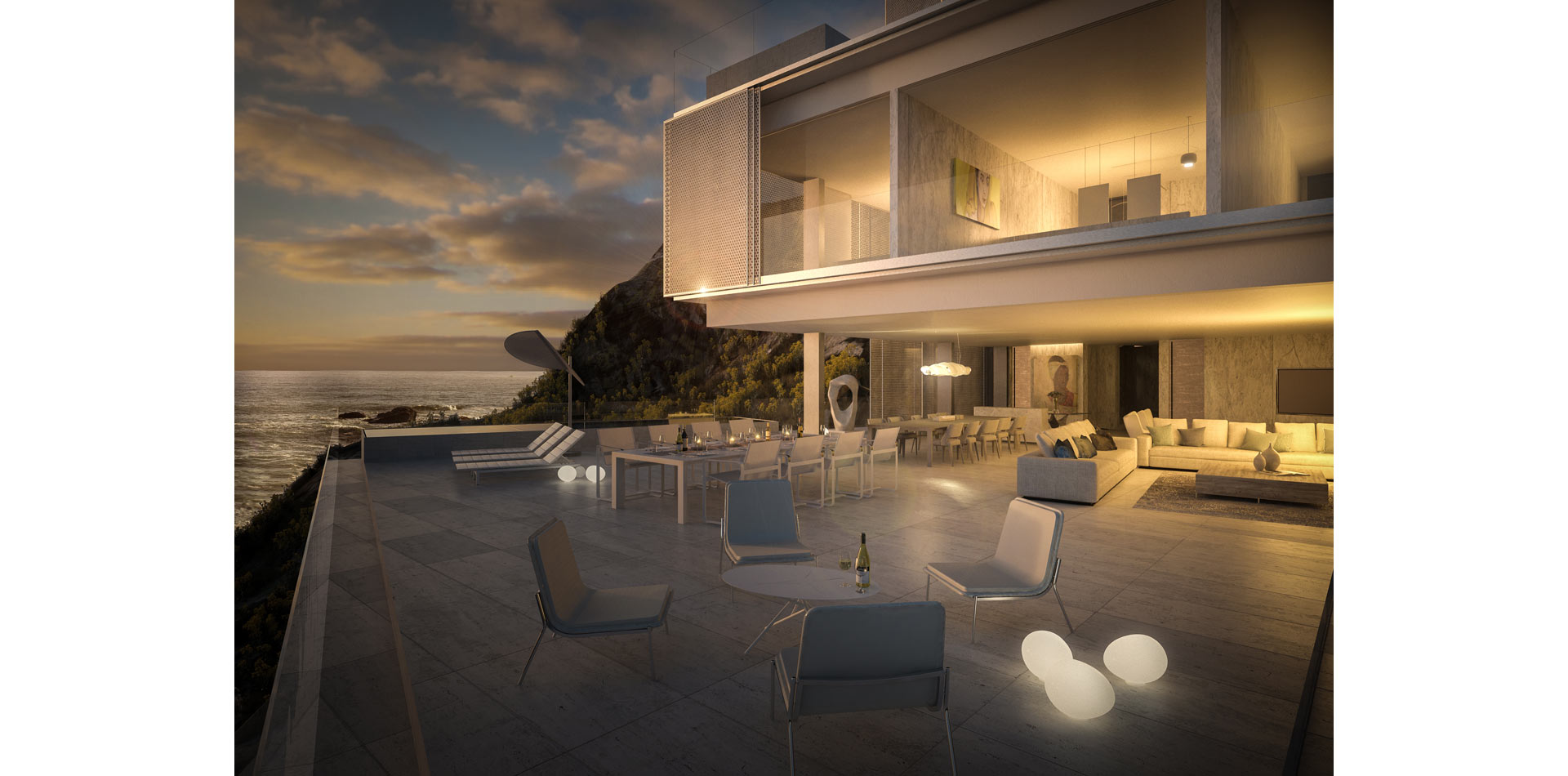 Terri Brown 3D visualisation Vray 3DS Max Cape Town Coast Luxury Modern Marble Patio