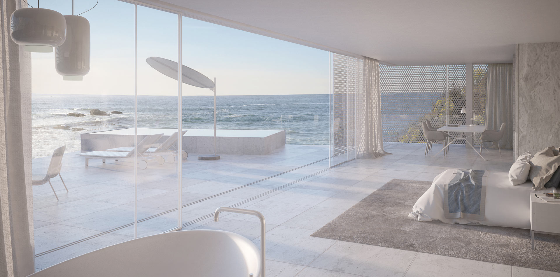 Terri Brown 3D visualisation Vray 3DS Max Cape Town Coast Luxury Modern Marble Bedroom