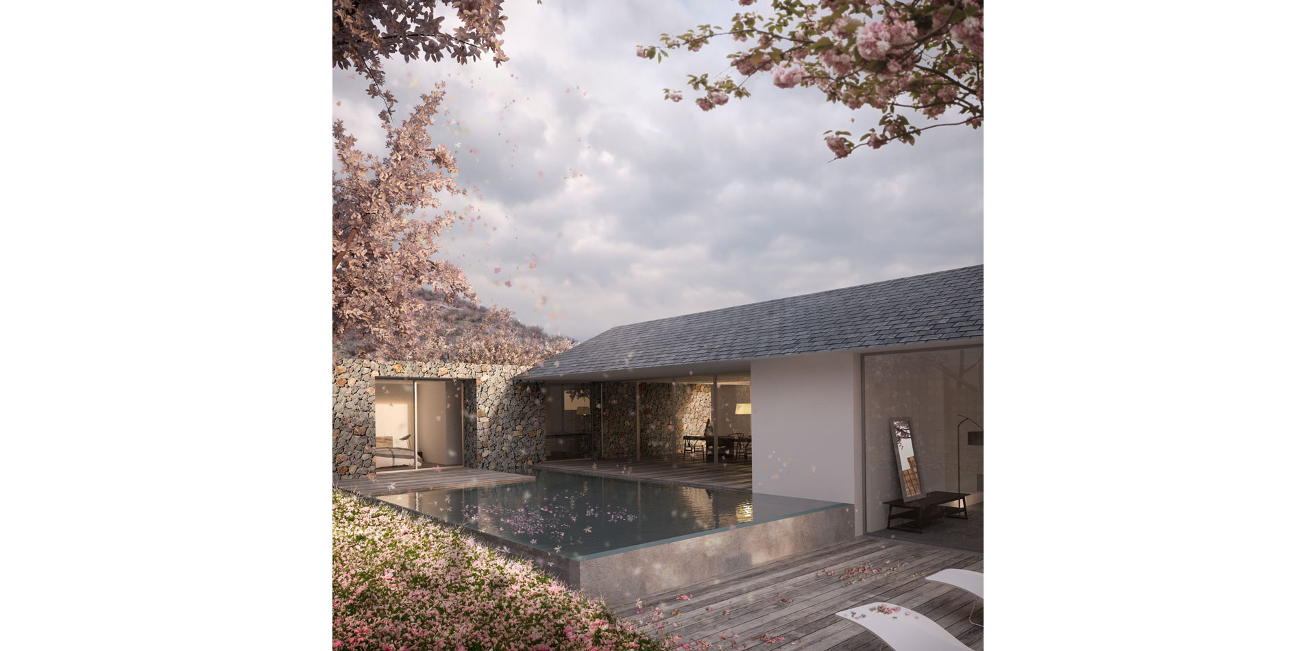 rior Design Vray Mauritius Tropical Luxury Modern Pool