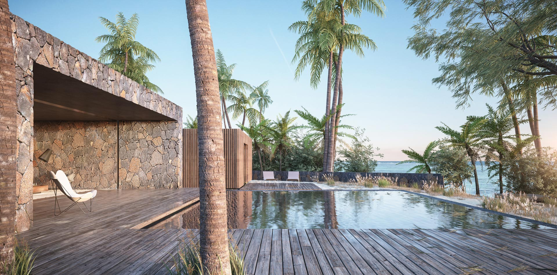 3D Visualisation 3ds max Terri Brown Architecture Interior Design Vray Mauritius East Coast Tropical Luxury Modern Deck Pool