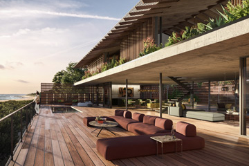 Terri Brown 3D Architecture visualisation 3DS Max Photoshop Vray Luxury Accomodation Coast Beach South Africa Digital Art